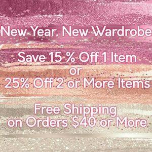 Save 15% Off 1 Item or 25% Off Bundles!